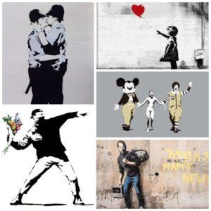 Het beroemde werk van Banksy