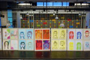 """De kunstwerken van onze HAVO 5 leerlingen. De opdracht was """"Iconen"""""""