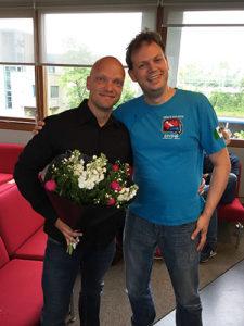 Links: dhr. E. Berkhuysen Rechts: dr. M. van Beek