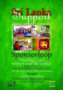 Poster Sponsorloop Sri Lanka Support